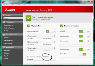 Serial Number Avira Premium & Internet Security 2013 Full